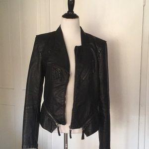 Vintage!! BLANKNYC Leather jean jacket